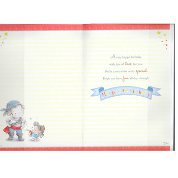 Today You're 4 Little Boy Pirate Theme Grandson Candy Club Birthday Card