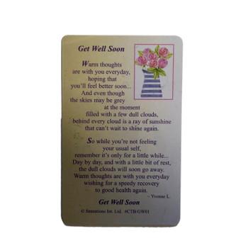 Get Well Soon...Wallet Card (Sentimental Keepsake Wallet / Purse Card)