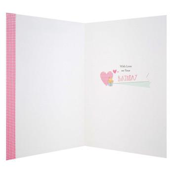 Beautiful Granddaughter Birthday Card 'Lovable'