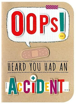 You Had an Accident Embellished Get Well Hand-Finished Sugar Cube Cards