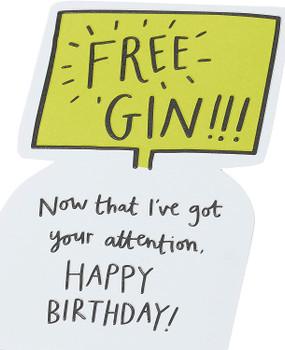 Gin Funny Birthday Card