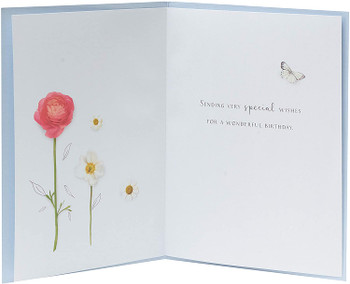 Pretty Rose Flower Design Birthday Card