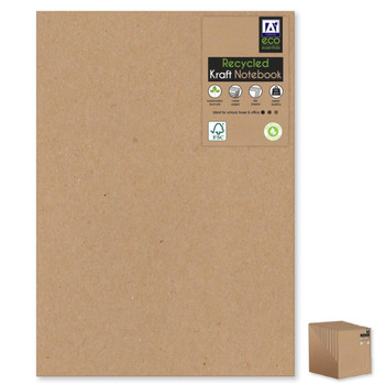 A4 Recycled Kraft Softcover Notebook