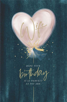 Wife Stunning Luxury Female Birthday Card