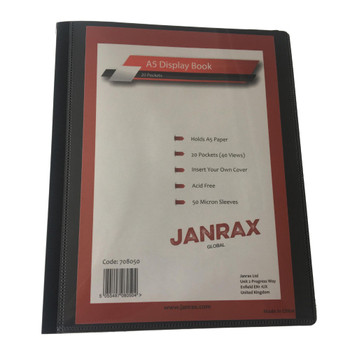 Pack of 6 A5 Presentation Display Books 20 Pockets (40 Views) by Janrax