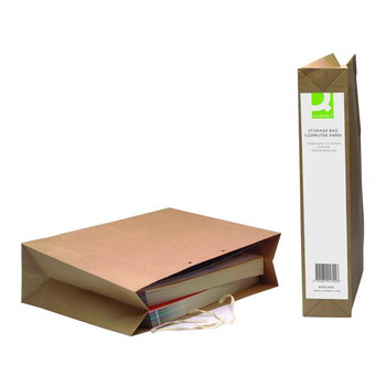 Pack of 25 Q-Connect Manilla Computer Paper Storage Bag