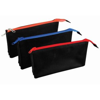 Flat Triple Compartment Pencil Case Assorted Colour