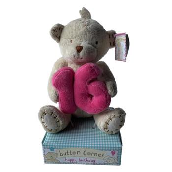 16th Birthday Button Corner Bear