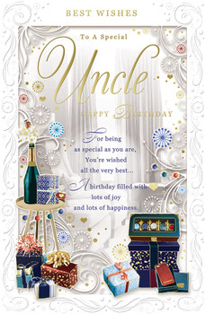 To A Special Uncle Opacity Birthday Card