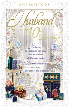 With Love to My Husband On Your 40th Birthday Opacity Card