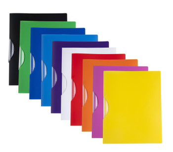 Pack 12 A4 Assorted Swing Clip Folder Document Files