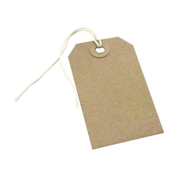 Pack of 1000 146x73mm Buff Strung Tag