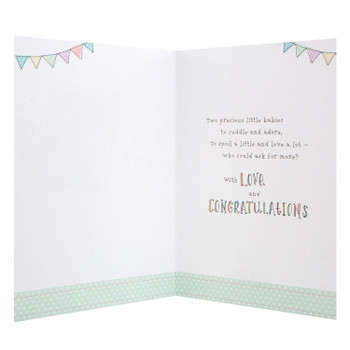 Birth of Twins, New Baby Card