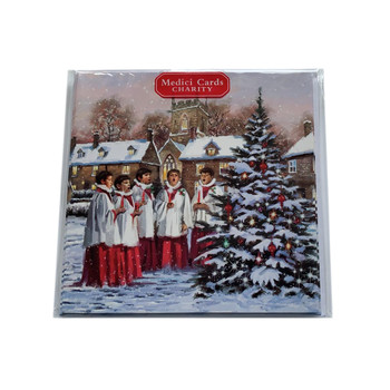 Pack of 8 Choir and Christmas Tree Christmas Cards