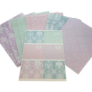 10 Sheet of Soft Touch Designer Floral Design Gift Wrap Wrapping Paper