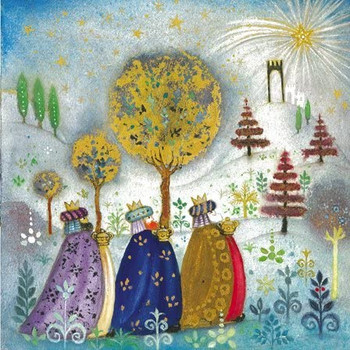 Pack of 8 'Three Kings' Design Charity Christmas Cards