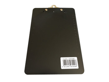 Pack of 6 Black A5 Clipboards with Butterfly Clip with Ruled Side - Clip Board