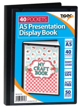 Pack of 6 Tiger A5 40 Pocket Presentation Display Book