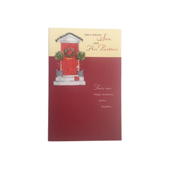 Special Son and Partner Christmas Greetings Card
