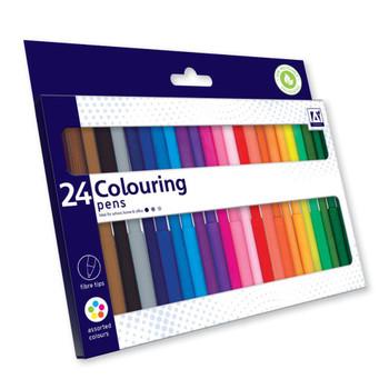 Pack of 24 Fibretips Colouring Pens