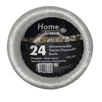 Pack of 24 Microwaveable Thermo Disposable Bowls