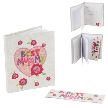 Best Mummy Notebook and Magnetic Bookmark Gift Set