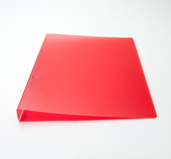 100x A5 Slim Red Translucent Ringbinders - Filing Ring Binder Storage