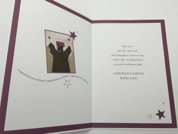 """On Your Graduation Daughter"" Graduation Greeting Card"