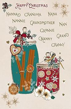 Nanna Grandma Nana Granny Gran Nanny Grannie Nan Grandmother Nannie Happy Christmas Card