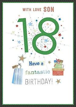 Son Stylish 18th Fantastic Happy Birthday Card