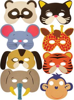 Pack of 24 Foam Animal Masks