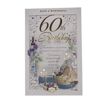 Have A Wonderful 60th Birthday Open Male Opacity Card