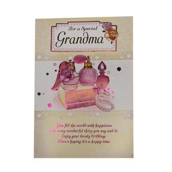 For A Special Grandma Perfumes Design Birthday Card