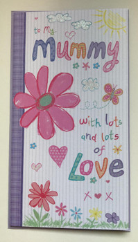 To My Mummy With Lots And Lots Of Love Slim Birthday Card