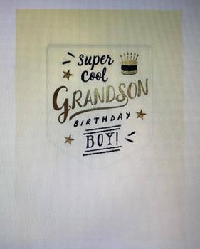 Super Cool Grandson Birthday Boy Card