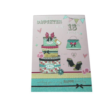 Dear Daughter On Your 18th Birthday Greeting Card