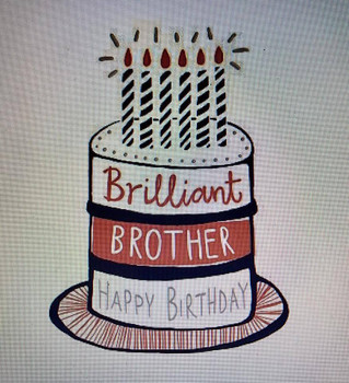 Brother Birthday Cake Hotchpotch Greetings Card