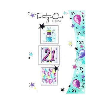 Twenty-one Today Balloons Birthday Card