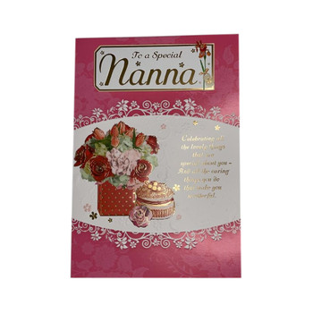 To A Special Nanna Flowers Design Greeting Card