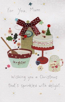 For You Mum Christmas Greeting Card Button Box Range Xmas Greetings Cards