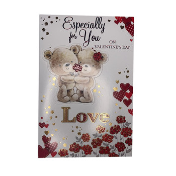 Especially For You Teddies With Rose Design Valentine's Day Card