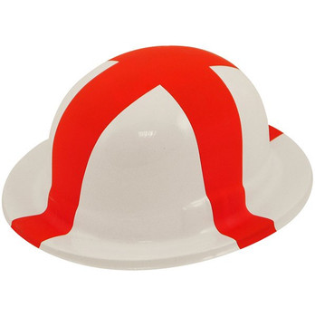 Pack of 12 St George Plastic Bowler England Hats For Adults