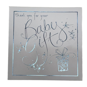 Pack of 6 New Baby Boy Birth Announcement Cards, Thank you For the Baby Gift Cards