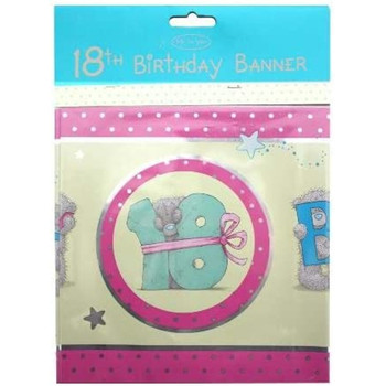 Me To You Happy 18th Birthday Bear Banner