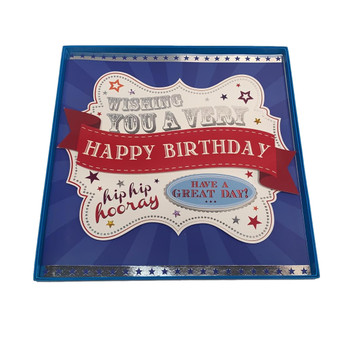 Large Wishing You a Very Happy Birthday Greeting Card