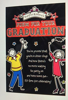 Purple Ronnie's Graduation Poem, Congratulations Graduation Card