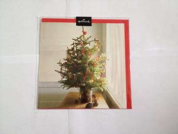 Xmas Tree Traditional Blank Christmas Card By Hallmark...