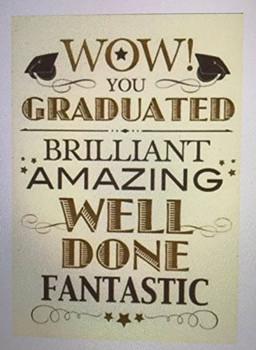 WOW YOU GRADUATED, Congratulations Graduation Card