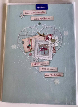 You're in My Thoughts and in My Heart Christmas Greeting Card