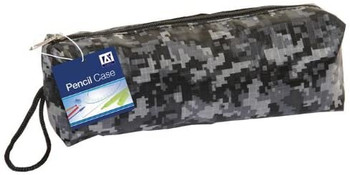 Pack of 12 Black Camouflage Design Pencil Cases